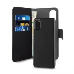 Puro Samsung A41 Wallet Book Handytasche + Hülle 2in1 Schwarz