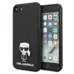 Karl Lagerfeld iPhone SE 2020 / 8 / 7 Saffiano Ikonik Karl Hülle schwarz