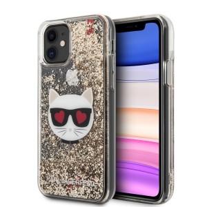 Karl Lagerfeld iPhone 11 Glitter Choupette Hülle Gold KLHCN61LCGLGO