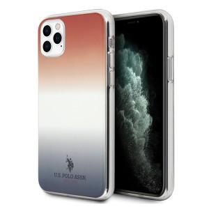 US Polo Hülle iPhone 11 Pro Gradient Pattern blau rot USHCN58TRDGRB