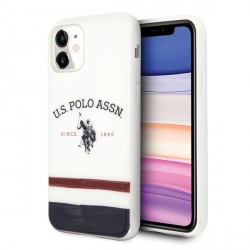 US Polo Hülle iPhone 11 Tricolor Pattern weiß USHCN61PCSTRB