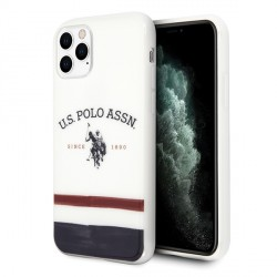 US Polo Hülle iPhone 11 Pro Max Tricolor Pattern weiß USHCN65PCSTRB