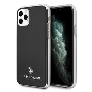 US Polo Hülle iPhone 11 Pro Max Shiny schwarz USHCN65TPUBK