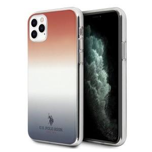 US Polo Hülle iPhone 11 Pro Max Gradient Pattern blau rot USHCN65TRDGRB