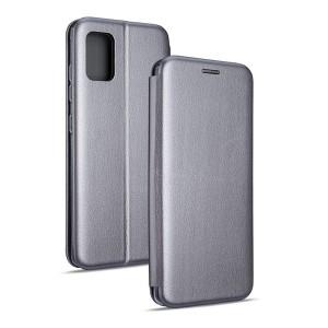 Magnetic Handytasche Samsung Galaxy M21 M215 silber