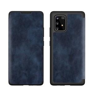 Tasche PU Leder Book Huawei P40 blau