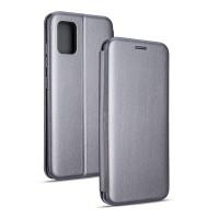 Magnetic Handytasche Samsung Galaxy A21 A215 silber