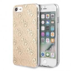 Guess iPhone SE 2020 / 8 / 7 Hülle 4G Glitter Gold