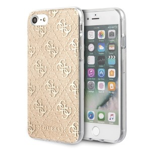 Guess Guess 4G Glitter Hülle iPhone SE 2020 / 8 / 7 Gold GUHCI8PCU4GLGO