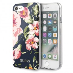 Guess iPhone SE 2020 / 8 / 7 Hülle Flower Shiny Collection N3 GUHCI8PCUTRFL03