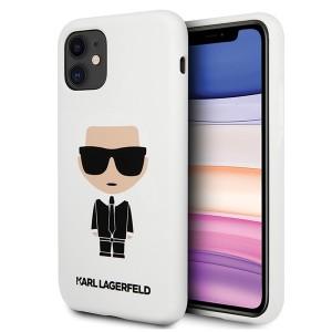 Karl Lagerfeld iPhone 11 Silicon Iconic Hülle Weiß KLHCN61SLFKWH