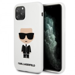 Karl Lagerfeld iPhone 11 Pro Max Silicon Iconic Hülle Weiß KLHCN65SLFKWH