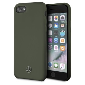 Mercedes iPhone SE 2020 8 / 7 Silikon Schutzhülle Innenfutter khaki / Grün MEHCI8SILMG