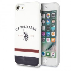 US Polo iPhone SE 2020 / 8 / 7 Hülle Tricolor Pattern weiß USHCI8PCSTRB