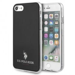 US Polo iPhone SE 2020 / 8 / 7 Hülle Shiny schwarz USHCI8TPUBK
