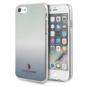 US Polo iPhone SE 2020 / 8 / 7 Hülle Blau Gradient Pattern USHCI8TRDGLB
