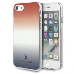 US Polo iPhone SE 2020 / 8 / 7 Hülle Gradient Pattern blau rot USHCI8TRDGRB