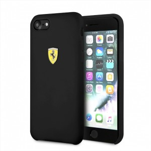 Ferrari iPhone SE 2020 / 8 / 7 Silikon Hülle Off Track schwarz FESSIHCI8BK