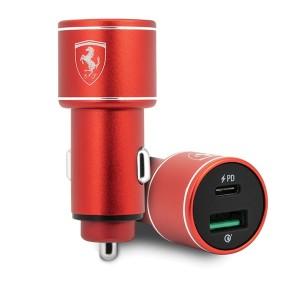 Ferrari Scuderia Dual USB Schnellladegerät QC 3.0 mit USB 36W FEOCCALRE