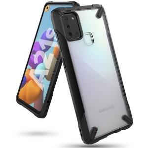Ringke Fusion X Samsung  A21s A217 Hülle schwarz FUSG005