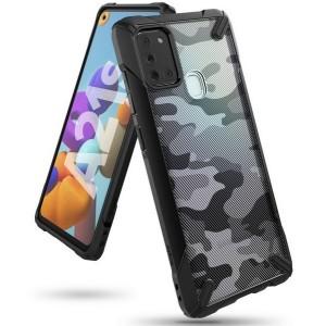 Ringke Fusion X Samsung A21s A217 Hülle como schwarz XDSG003
