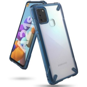 Ringke Fusion X Samsung A21s A217 Hülle space blue FUSG006