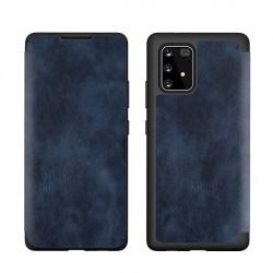 Tasche PU Leder Book Samsung Galaxy A20s A207 Blau