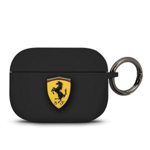 Ferrari Silicone Schutzhülle / Cover AirPods Pro schwarz FEACAPSILGLBK