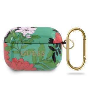 Guess Silikon Hülle AirPods Pro Flower N.1 grün Collection GUACAPTPUBKFL01