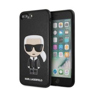 Karl Lagerfeld iPhone 8 Plus / 7 Plus Iconic Karl Embossed Hülle schwarz KLHCI8LIKPUBK