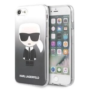 Karl Lagerfeld iPhone SE 2020 / 8 / 7 schwarz Gradient Ikonik Karl KLHCI8TRDFKBK