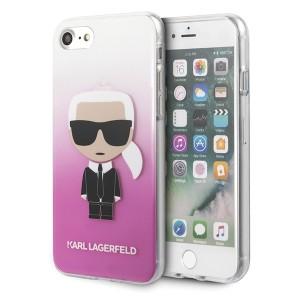 Karl Lagerfeld iPhone SE 2020 / 8 / 7 pink Gradient Ikonik Karl KLHCI8TRDFKPI