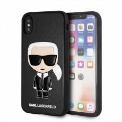 Karl Lagerfeld iPhone XS / X Iconic Karl Embossed Hülle schwarz KLHCPXIKPUBK