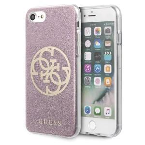 Guess iPhone SE 2020 / 8 / 7 Glitter 4G Circle Logo Pink GUHCI8PCUGLPI