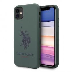 US Polo iPhone 11 Hülle Silikon Innenfutter Grün USHCN61SLHRGN