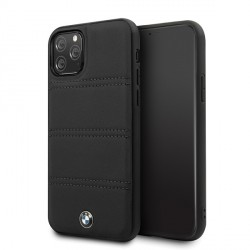 BMW iPhone 11 Pro Signature Horizontal Lines Lederhülle BMHCN58PELBK