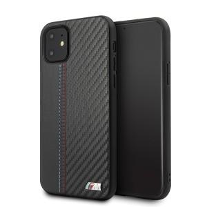 BMW iPhone 11 Hülle Leder / Carbon schwarz BMHCN61MCARBK