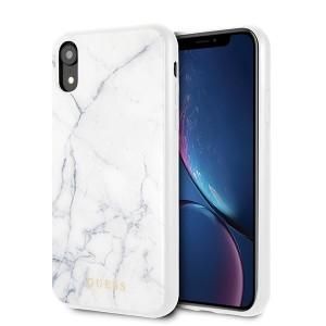 Guess iPhone XR Marble Hülle weiß GUHCI61HYMAWH