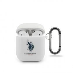 US Polo Schutzhülle AirPods 1 / 2 Glänzend Weiß USACA2TPUWH