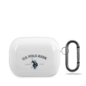 US Polo Schutzhülle AirPods Pro Glänzend Weiß USACAPTPUWH