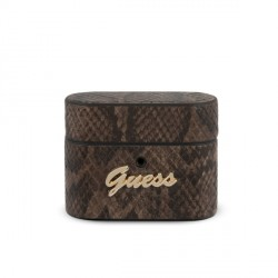 Guess AirPods Pro Cover / Case / Hülle Python Muster Braun