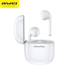 AWEI Bluetooth 5.0 T28 TWS Ohrhörer + Dockingstation weiß