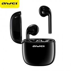 AWEI Bluetooth Kopfhörer 5.0 T28 TWS + ladestation schwarz