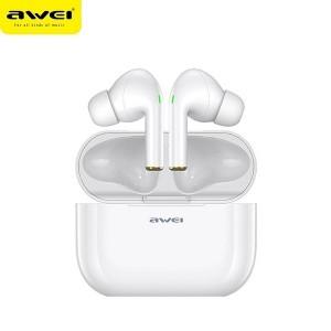 AWEI Bluetooth Kopfhörer 5.0 T29 TWS + ladestation weiß