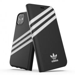 """Adidas OR Booklet Case PU Handytasche iPhone 12 / 12 Pro 6,1"""" schwarz / weis"""