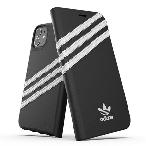"Adidas OR Booklet Case PU Handytasche iPhone 12 / 12 Pro 6,1"" schwarz / weis"