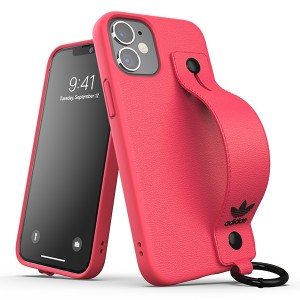 "Adidas OR Hand Strap Case iPhone 12 mini 5,4"" pink"