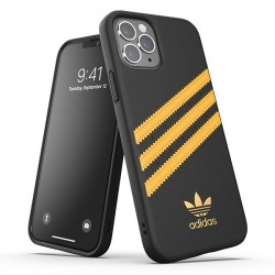 """Adidas OR Moulded Case PU Hülle iPhone 12 / 12 Pro 6,1"""" schwarz gold"""