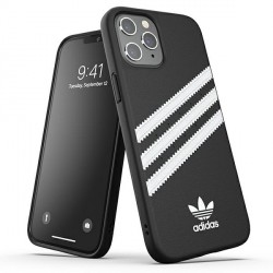 Adidas OR Moulded Case / Hülle PU iPhone 12 Pro Max schwarz / weiß