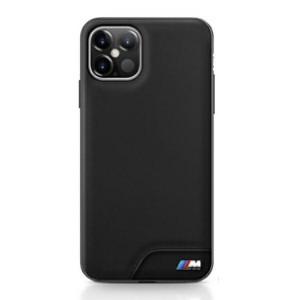 BMW M Smooth PU Leder Hülle iPhone 12 Pro Max 6,7 Schwarz BMHCP12LMHOLBK